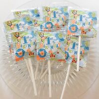 12 Safari Boy 1st Birthday Lollipops Candy For Party Favors