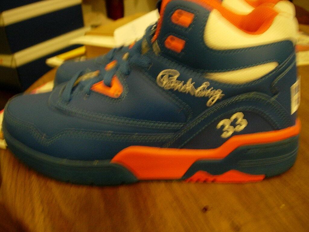 Patrick Ewing, Mens 8, bleu Orange