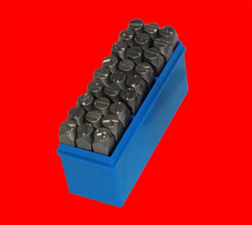 Schlagstempel Schlagzahlen A-Z 27 tlg Qualitäts Schlagbuchstaben Satz Gr 4mm