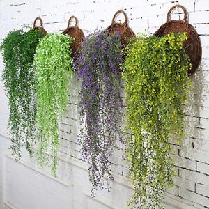 Artificial-Fake-Silk-Flower-Vine-Hanging-Garland-Plant-Home-Garden-Wall-Decor