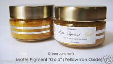 ★GJs  FDA Approved Matte Cosmetic Pigment ( Gold ) 13gms Jar -Yellow Iron Oxide★