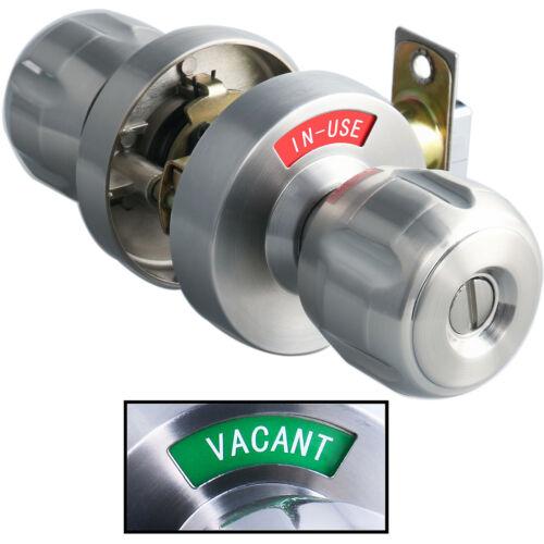 MUTEX BLS2 Bathroom Indicator Privacy Door Knob In-Use Occupied or Vacant Nickel