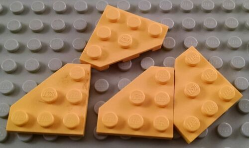 LEGO Lot of 4 Yellow 3x3 Cut Corner Plate Pieces