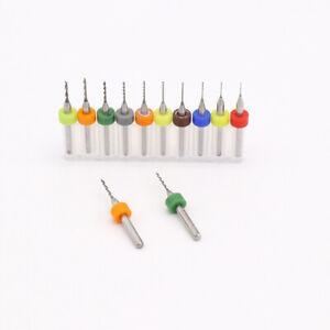 A Box 10* 0.8mm Carbide Steel PCB CNC Dremel Jewelry Micro Engraving Drill Bits
