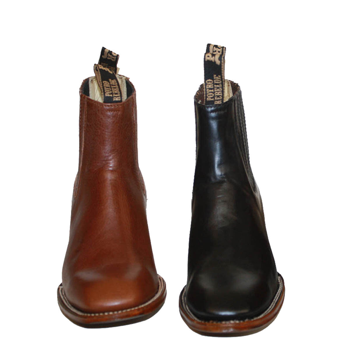 MEN'S GENUINE LEATHER WESTERN STYLE COWBOY SLIP ON BOOTS~ BRAND NEW RB Ankle