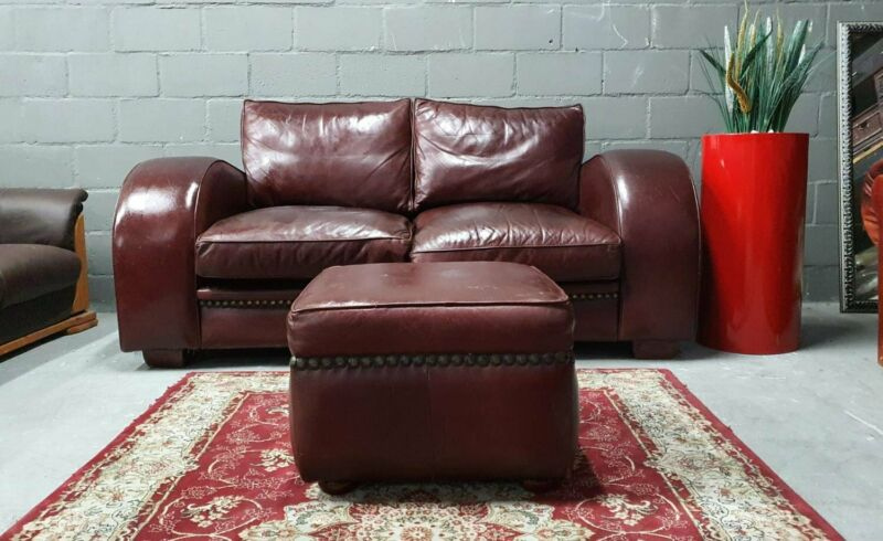 Genuine Kudu Leather Art Deco Style Couch With Ottoman 082 624 5168 Other Gumtree Classifieds South Africa 859586320