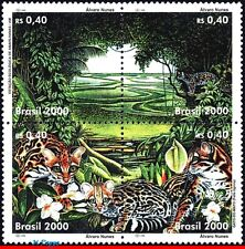 2752 BRAZIL 2000 ENVIRONMENTAL PROTECTION, TREES, CAT, OZ, MI# 3041-44, SET MNH
