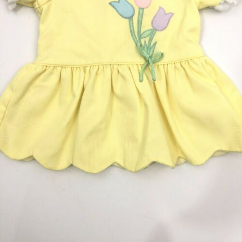 3-6 months Dress Tulips on yellow