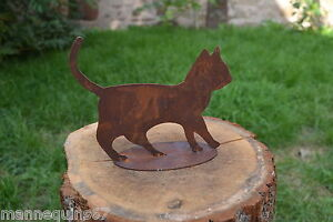 CHAT METAL ROUILLE DECORATION MAISON JARDIN TERRASSE COLLECTION | eBay
