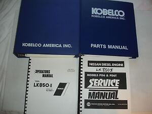 Kobelco LK850-II Wheel Loader SHOP MANUAL PARTS OPERATORS Engine