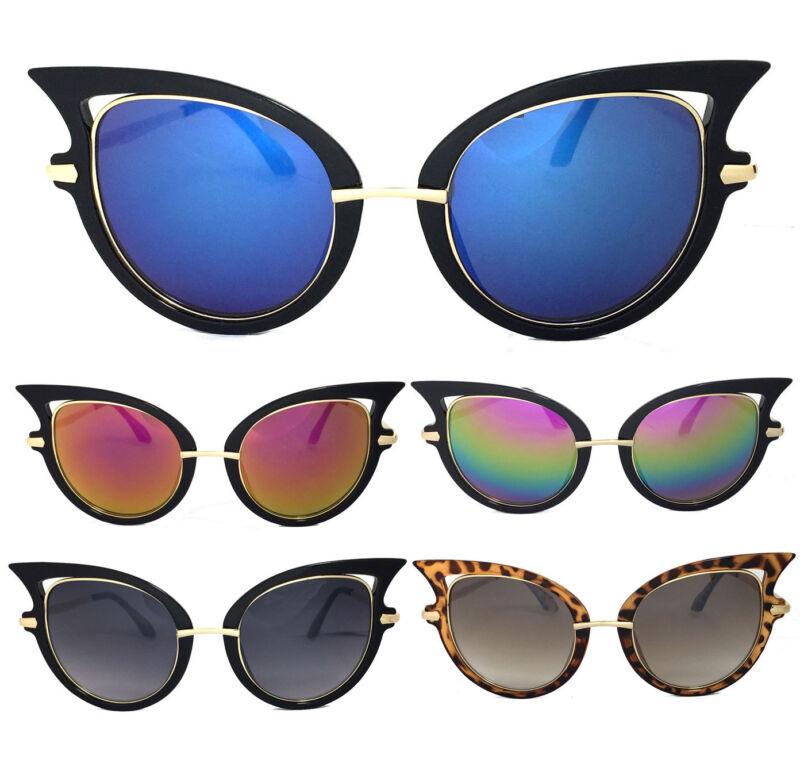 Damen Mode Sexy Katzenaugen Sonnenbrille Gold Metall Arm Uv Schutz Ein GefüHl Der Leichtigkeit Und Energie Erzeugen