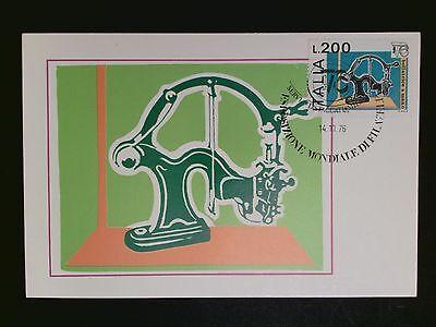 Bescheiden Italien Mk 1976 Briefmarken-messe Maximumkarte Carte Maximum Card Mc Cm C8232