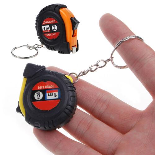 """Retractable Ruler Tape Measure Key Chain Mini Pocket Size Metric 1m//3.28Ft//39/"""""""