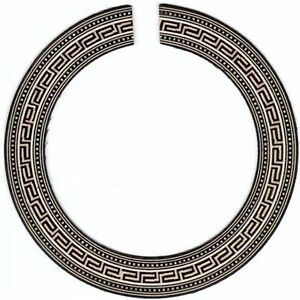 classical guitar rosette for luthier greek key style timber mosaic