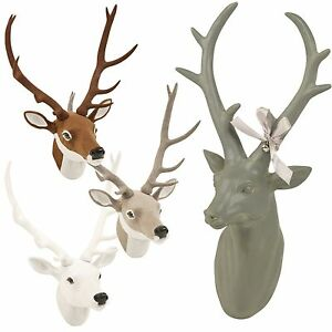 Wall-Mounted-Reindeer-Head-Decoration-Stag-Ornament-Deer-Antler-Trophy-Christmas