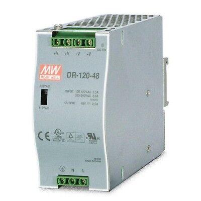 24Vdc 5A 120 Watt Mean Well SDR-120-24 DIN-Rail LED Hutschienen Netzteil