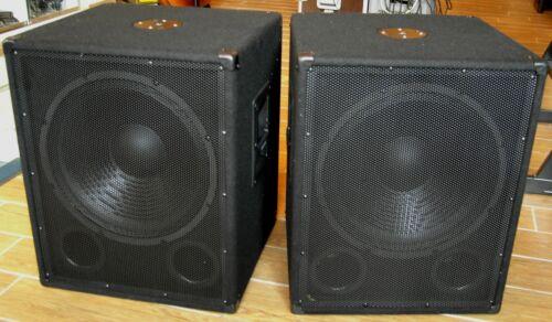 "K/&M Flansch SPEAKER Woofer DJ DISCO SUBWOOFER OMNITRONIC 2x 800W PA BASSBOX 15/"""