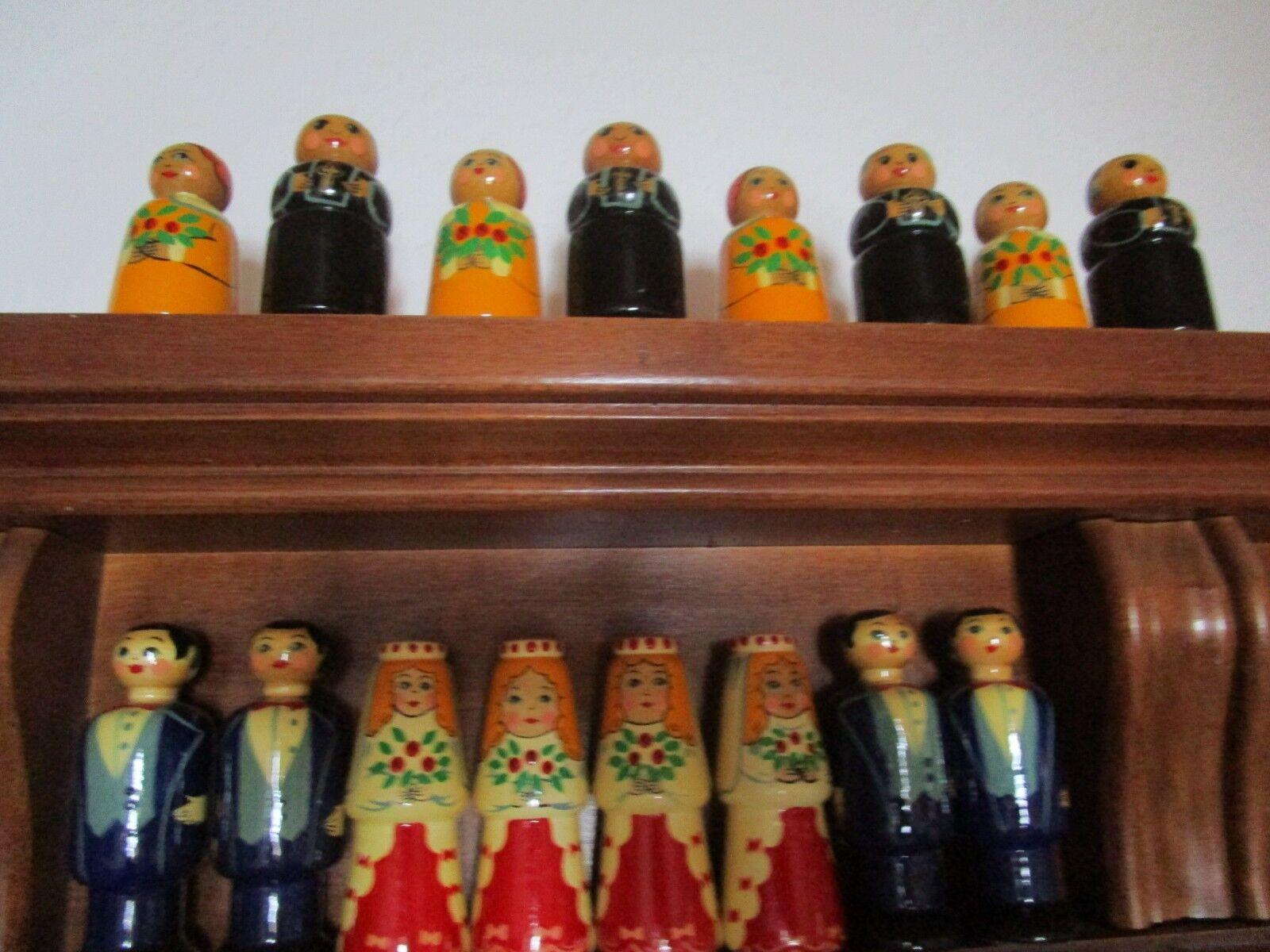 Russisch Matroschka-Ärger Dich nicht Figuren Holz puppen Russland handMalerei handMalerei handMalerei ae6c33