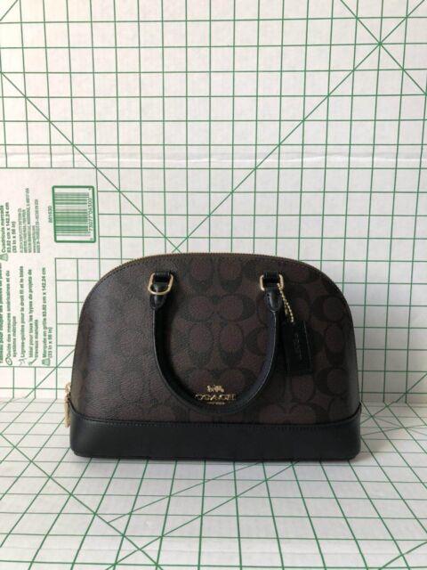 aa288bd7aca Coach F27583 Mini Sierra Signature Satchel Shoulder Bag Handbag