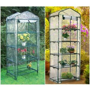 Details About 3 4 5 Tier Pvc Mini Greenhouse Walk In Grow Bag Replacement Cover Plastic Garden