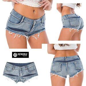 nuovo prodotto e584f 038c0 Dettagli su Mini Pantaloncini Jeans Donna - Woman Mini Shorts Jeans JEA018