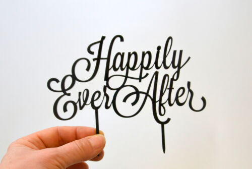 Cake Topper Happily Ever After white Wedding Cake Toppers