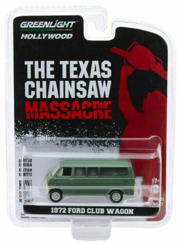 Texas Chainsaw Ford Club Wagon 1972 Movie 1:64 GreenLight