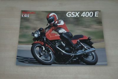 Anleitungen & Handbücher Suzuki Gsx 400 E Prospekt 01/1984 Prospekte 194000