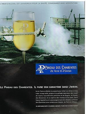 Collectibles Humble Publicité Advertising 2004 Le Vin Pineau Des Charentes Regular Tea Drinking Improves Your Health Other Breweriana