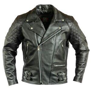 Uomo-Giacca-In-Pelle-Moto-Biker-Giacca-Giacca-Moto-con-protezioni-trapunta-camouflage