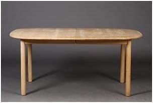 Spisebord, bøgetræ, Haskev Møbelsnedkeri