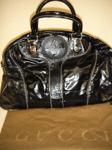 Image is loading Authentic-GUCCI-Snow-Glam-Bowler-Satchel-Black-Quilted- 74d6d029a4164