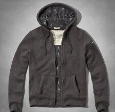 New Abercrombie & Fitch Haystack Mountain Hoodie Dark Heather Grey, size XL