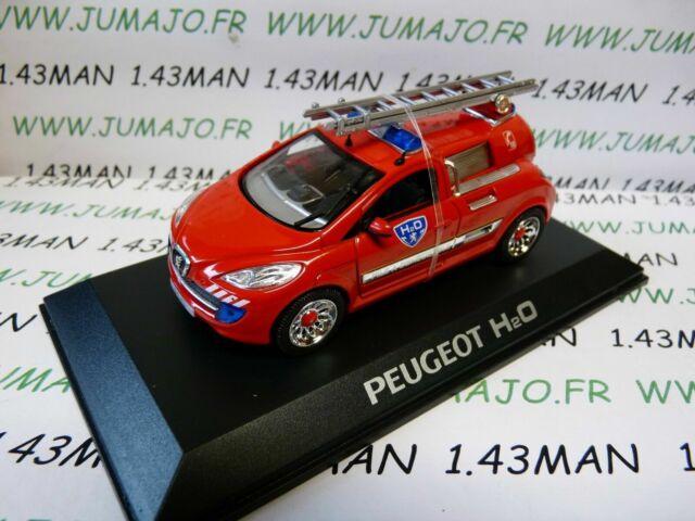 Voiture 1/43 altaya / norev concept car : PEUGEOT H2O pompiers pile combustible
