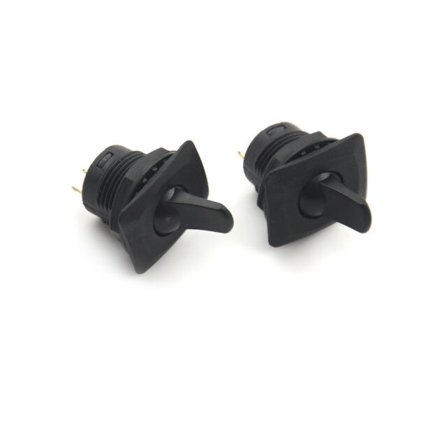 2* R13-402 Black ON-OFF-ON 3Pin 2Position Maintained SPDT Round Toggle Swit YA56