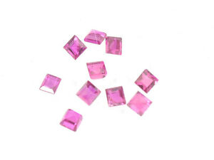 10 Pcs #other917 Ruby Faceted Cube Wholesale Lot 0.62ct Other Rocks, Fossils, Minerals