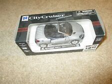 New Ray City Cruiser 1:32 Scale Peugeot 206 cc Silver MIB 2001 See My Store
