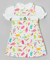 Vive La Fete Two Piece Hand Smocked Birthday Jumper And Blouse Set