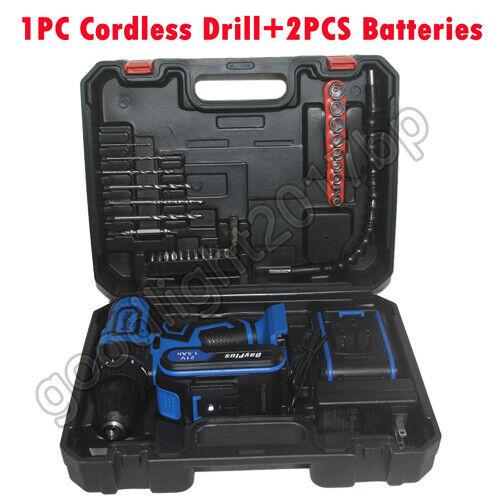 21V CORDLESS DRILL BATTERY ELECTRIC SCREWDRIVER COMBI DRILL DRIVER DIY TOOLS SET