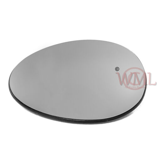 BMW MINI 2007-/>2013 DOOR//WING MIRROR GLASS SILVER CONVEX HEATED/& BASE,LEFT SIDE