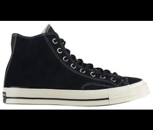 a3fb14e40172 Converse Chuck Taylor All Star 70 Hi Black Suede Mens Shoes 162373C ...