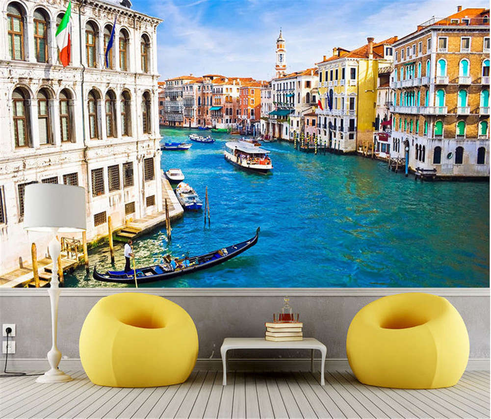 Majestic Soft Venice 3D Full Wall Mural Photo Wallpaper Printing Home Kids Decor