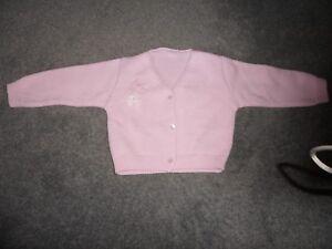 Baby Girl's Pink Cardigan 6-12 Mois-afficher Le Titre D'origine