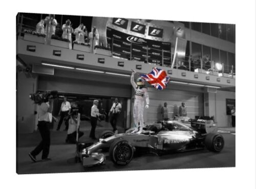 Lewis Hamilton 30x20 Inch Canvas F1 WORLD CHAMPION Framed Picture Poster