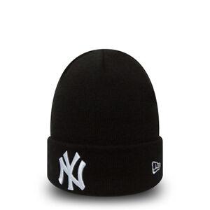 NEW ERA NEW YORK YANKEES BEANIE.NEW MLB MENS WOMENS BLACK WHITE CUFF ... a59c2d938d8