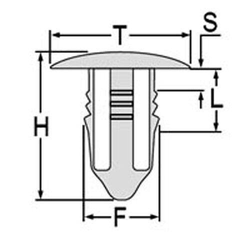 20x conjunto de clips tapones bloquearân mercedes r107 w108 w114 w115 w116 w123 w126