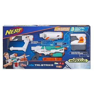 Hasbro-Nerf-N-Tri-Strike-Elite-Modulus-Blaster-Spielzeugblaster-Spielzeugpistole