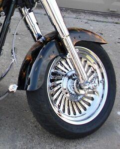 Details about Harley Softail Fatboy Custom Cut Turbine 2008 -2017 Chrome  Rims Wheels Exchange