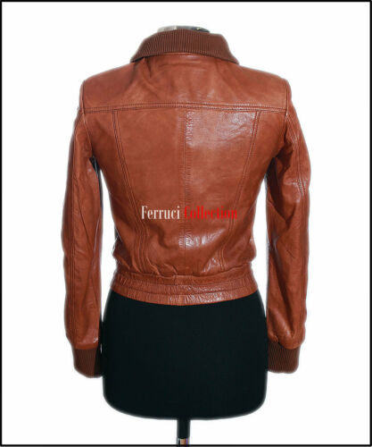 Leather Real Casual Women's Natalie Ladies Lambskin Smart Tan Jacket qXI0IU