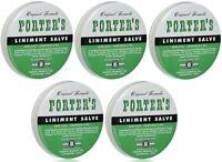5 Pack Orginal Formula Porter's Liniment Salve 2 Oz Cuts Burns on sale